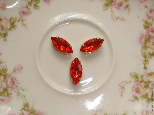 Для украшений ручной работы. Ярмарка Мастеров - ручная работа. Купить Винтажные кристаллы 15х7 мм - Hyacint. Handmade. Гиацинт