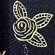 """Аппликации, вставки, отделка ручной работы. Вышивка на одежде, аппликация, картинка, картина, панно """"Золотые розы"""". Вышивка на заказ! SEANNA (Анна). Интернет-магазин Ярмарка Мастеров."""