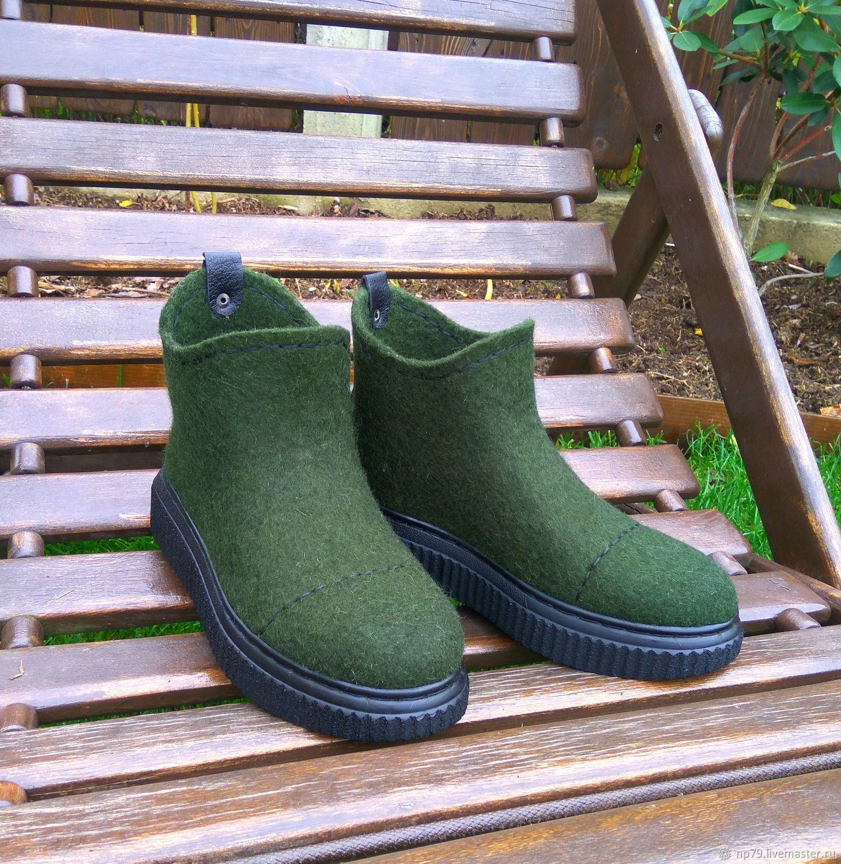 dad1ca112 Обувь ручной работы. Ярмарка Мастеров - ручная работа. Купить Валяные  ботинки. Handmade.