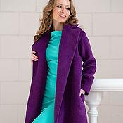 Одежда ручной работы. Ярмарка Мастеров - ручная работа Пальто из альпаки цвета фиалки. Handmade.