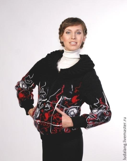 """Верхняя одежда ручной работы. Ярмарка Мастеров - ручная работа. Купить Куртка """"Геометрия"""". Handmade. Осенняя куртка, шерстяная куртка"""