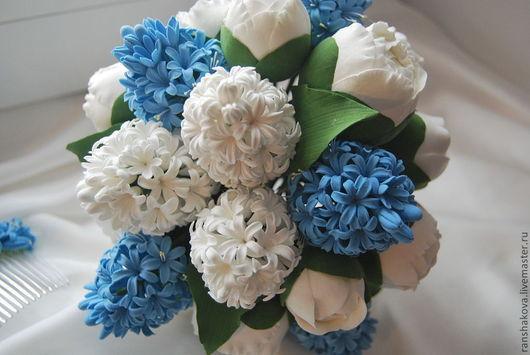 Свадебные цветы ручной работы. Ярмарка Мастеров - ручная работа. Купить Букет невесты из гиацинтов. Handmade. Свадебный букет