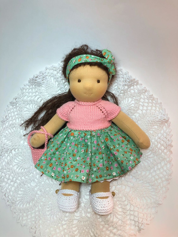 Кукла из хлопка и шерсти, 26 см, Вальдорфские куклы и звери, Москва,  Фото №1
