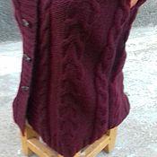 Одежда ручной работы. Ярмарка Мастеров - ручная работа Вязаный жилет Бордо. Handmade.