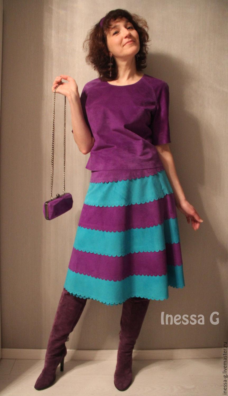 Купить блузку фиолетового цвета