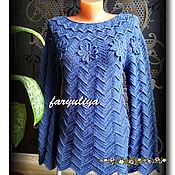 """Одежда ручной работы. Ярмарка Мастеров - ручная работа Туника """"Blue violet"""". Handmade."""