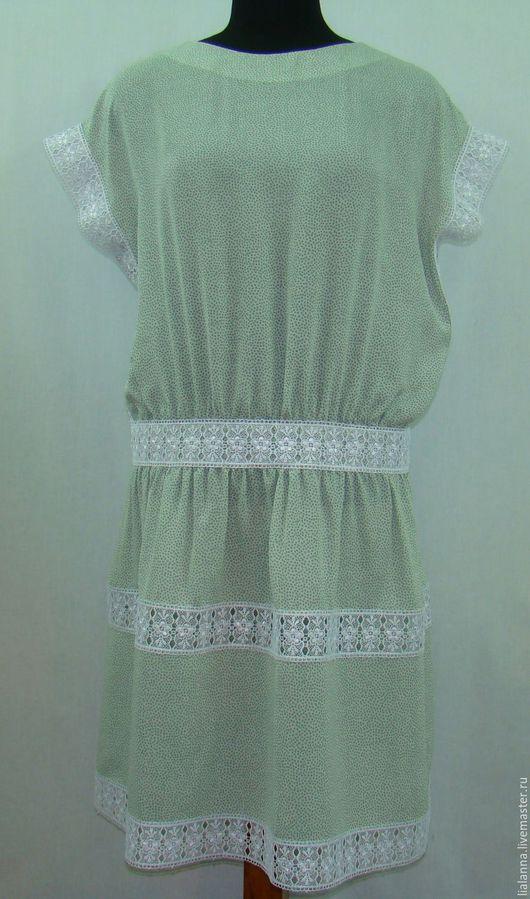 Платья ручной работы. Ярмарка Мастеров - ручная работа. Купить платье летнее. Handmade. Мятный, платье, платье на каждый день