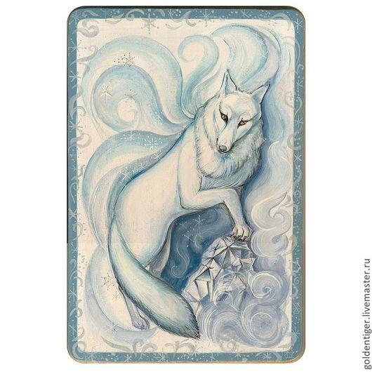 Фэнтези ручной работы. Ярмарка Мастеров - ручная работа. Купить Волк и кристалл. Handmade. Синий, животные, фэнтези, зимний