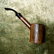 Подарки к праздникам handmade. Livemaster - original item Smoking pipe, Cup - white, bowl - walnut crust mouthpiece - acrylic. Handmade.