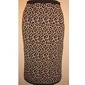 Одежда ручной работы. Ярмарка Мастеров - ручная работа Юбка вязаная Леопард. Handmade.