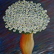 """Картины и панно ручной работы. Ярмарка Мастеров - ручная работа Натюрморт """"Кувшин с ромашками"""". Handmade."""