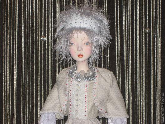 Коллекционные куклы ручной работы. Ярмарка Мастеров - ручная работа. Купить ЛЕЛЬ. Handmade. Белый, das, ткани, бисер