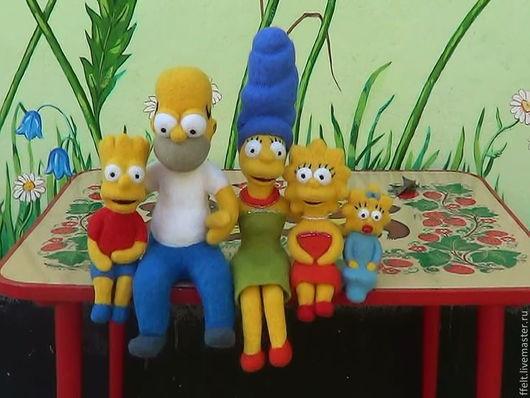 Сказочные персонажи ручной работы. Ярмарка Мастеров - ручная работа. Купить Симпсоны. Handmade. Желтый, портретная кукла, сказочный персонаж