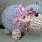 Куклы и игрушки ручной работы. Ярмарка Мастеров - ручная работа вязаная овечка. Handmade.