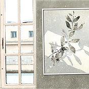 Картины и панно handmade. Livemaster - original item Picture Branch (black and white, foliage). Handmade.