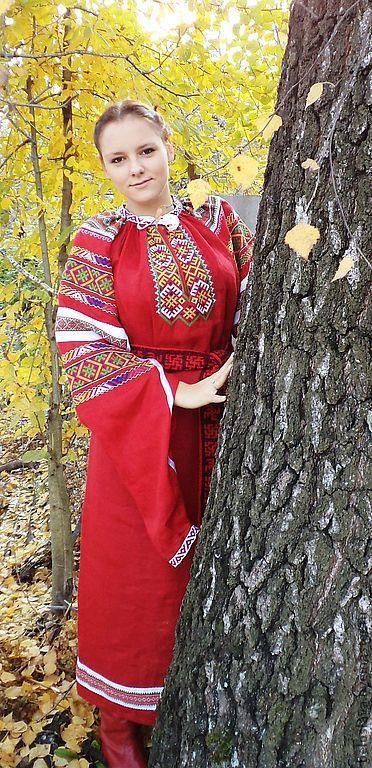 Одежда ручной работы. Ярмарка Мастеров - ручная работа. Купить Рубаха-длиннорукавка. Handmade. Женская рубаха, народная традиция
