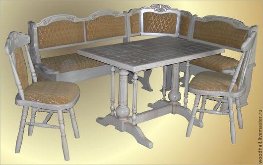 Кухонный уголок `Бавария` Уголок - 160*190 - 55000 Стол 75*115 - 35000 Стул 2 шт * 7000 (Это цены при покупке по отдельности)