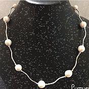 Украшения handmade. Livemaster - original item Necklace Pearl wave. Handmade.