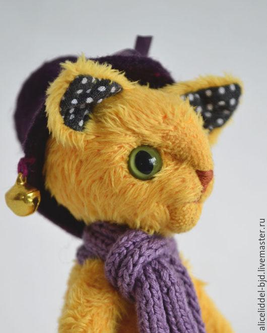 Игрушки животные, ручной работы. Ярмарка Мастеров - ручная работа. Купить Кот в цилиндре приносящий хорошие сны. Handmade. Желтый