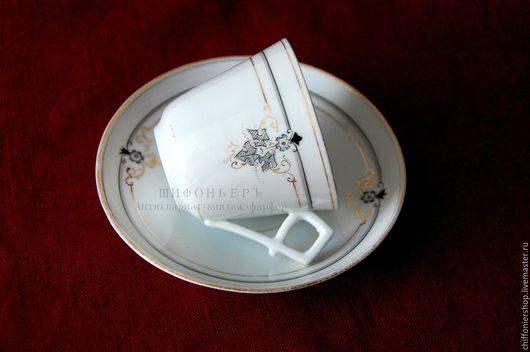Винтажная посуда. Ярмарка Мастеров - ручная работа. Купить Антикварные фарфоровые пары. Handmade. Белый, винтажный сервиз, костяной фарфор