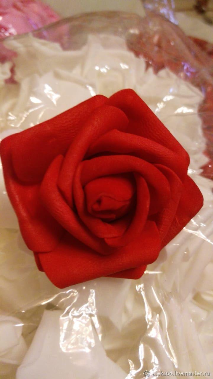 Розы из шелка 6 см, Цветы, Красноярск,  Фото №1