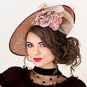 Аксессуары handmade. Livemaster - original item Evening hat from sinamay
