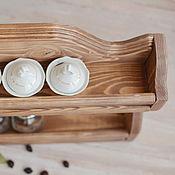 """Для дома и интерьера ручной работы. Ярмарка Мастеров - ручная работа """"Чилинтана"""", Настенная открытая деревянная полка на кухню для специй. Handmade."""