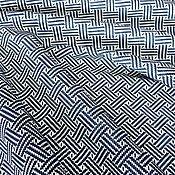 Материалы для творчества handmade. Livemaster - original item Genuine leather Black and white rhombus 1,2 mm. Handmade.