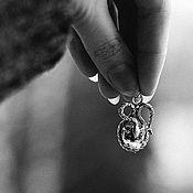 """Украшения ручной работы. Ярмарка Мастеров - ручная работа Серебряный кулон с бриллиантом Геркмайера """"Змей"""". Handmade."""