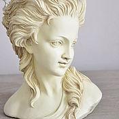 Для дома и интерьера handmade. Livemaster - original item Bust of girl pots of concrete Josephine for home and garden. Handmade.