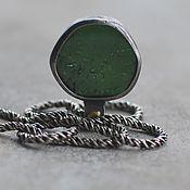 Украшения handmade. Livemaster - original item Green tourmaline, silver and brass. Handmade.