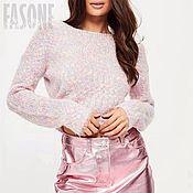 """Одежда ручной работы. Ярмарка Мастеров - ручная работа Свитер розовый """"Сахарная вата"""" Розовый свитер.Розовый свитер. Розовый. Handmade."""