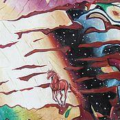 Картины и панно ручной работы. Ярмарка Мастеров - ручная работа Летящий в рассвет. Картина на холсте.. Handmade.