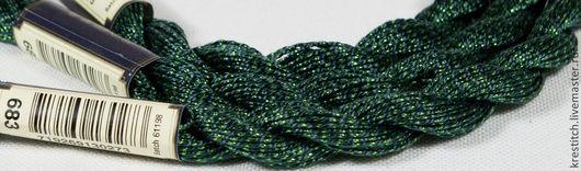Вышивка ручной работы. Ярмарка Мастеров - ручная работа. Купить Anchor Pearl метал. зеленая (683) нить для вышивания. Handmade.