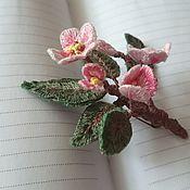 """Brooches handmade. Livemaster - original item Embroidered brooch """"Apple-tree in blossom"""". Handmade."""