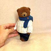 Мишки Тедди ручной работы. Ярмарка Мастеров - ручная работа Мишка тедди Бруно 15,5см. Handmade.