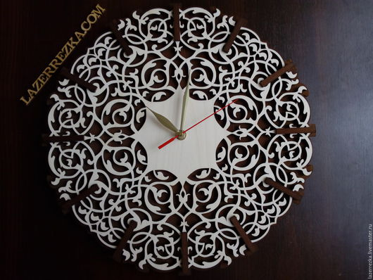 Часы для дома ручной работы. Ярмарка Мастеров - ручная работа. Купить Резные настенные часы. Handmade. Белый, часы для дома