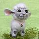 """Игрушки животные, ручной работы. Ярмарка Мастеров - ручная работа. Купить Овечка""""Милашка"""". Handmade. Символ 2015 года, овечка в подарок"""