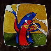 """Посуда ручной работы. Ярмарка Мастеров - ручная работа Декоративная тарелка""""Танго чайников"""". Handmade."""