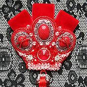 """Украшения ручной работы. Ярмарка Мастеров - ручная работа Брошь-кулон-корона """"Красная королева"""". Handmade."""