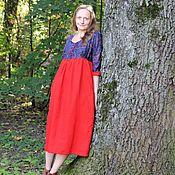 Одежда handmade. Livemaster - original item Dress flax