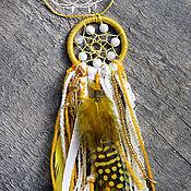"""Фен-шуй и эзотерика ручной работы. Ярмарка Мастеров - ручная работа Брелок ловец снов  """"Солнцецвет"""". Handmade."""