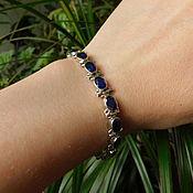 Украшения handmade. Livemaster - original item Bracelet with sapphires. Handmade.