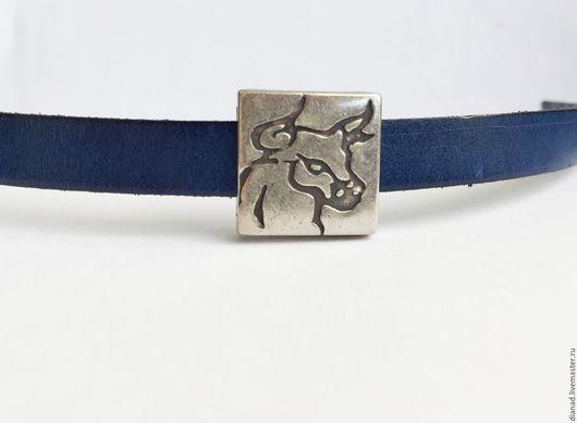 Для украшений ручной работы. Ярмарка Мастеров - ручная работа. Купить Бусина буйвол для плоского шнура 10х2мм, отверстие 13х3мм, Испания. Handmade.