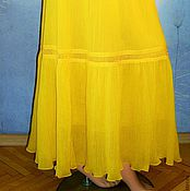 Одежда handmade. Livemaster - original item The floor-length skirt from Maliki with lace ( yellow ) 2. Handmade.