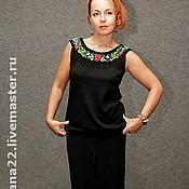 "Одежда handmade. Livemaster - original item Knitted suit""Elegant,black"". Handmade."