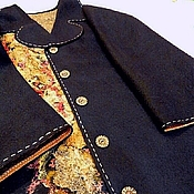 """Одежда ручной работы. Ярмарка Мастеров - ручная работа Пальто """"Золото на черном"""". Handmade."""