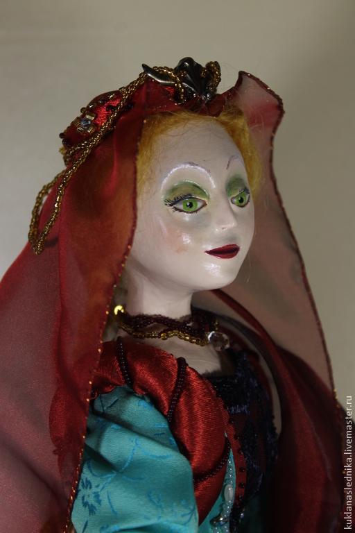 Коллекционные куклы ручной работы. Ярмарка Мастеров - ручная работа. Купить Кукла, смешанная техника, Леонора. Handmade. Тёмно-бирюзовый