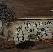 """Для дома и интерьера ручной работы. Ярмарка Мастеров - ручная работа Короб для вина """" Antique Toys """". Handmade."""