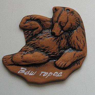 """Сувениры и подарки ручной работы. Ярмарка Мастеров - ручная работа Магнит """"Медведь"""". Handmade."""
